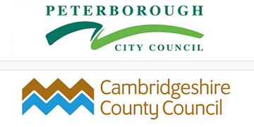 Peterborough City & Cambridgeshire County Councils logo