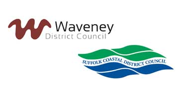 Suffolk Coastal District and Waveney District Council logo